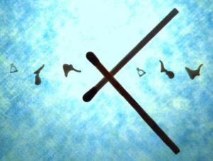 gehoorbotjes in verhouding tot een lucifer
