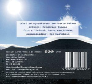 achterkant cd Tinnitus Ademtherapie